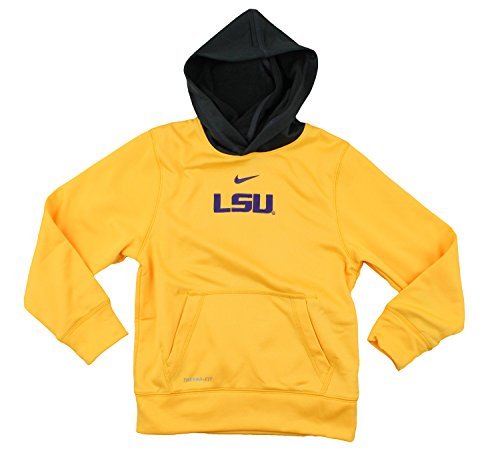 29dbf6a7 Nike NCAA College Youth LSU Tigers ThermaFit Performace Fleece Pullove –  Fanletic