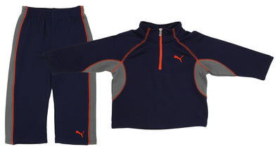 Puma Active Girls Boys Toddlers 2-Piece Set 1/4 Zip Top & Matching Pants