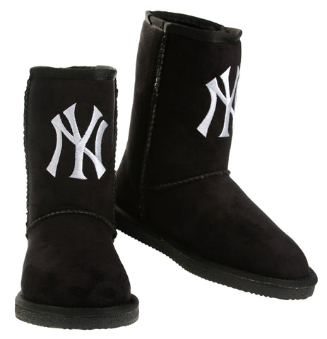 Cuce Shoes MLB Women's New York Yankees The Ultimate Fan Boots Boot - Black