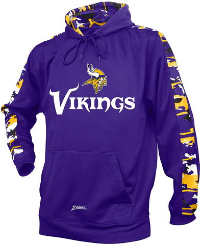 Zubaz NFL Men's Minnesota Vikings Pullover Hoodie with Camo Print