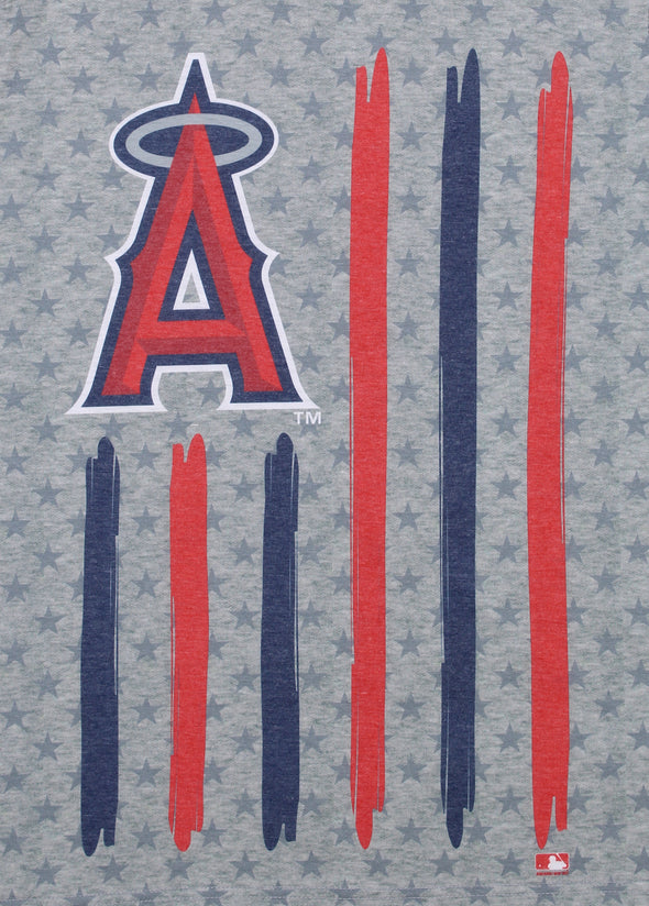 Forever Collectibles MLB Men's Los Angeles Angels Big Logo Flag Tee