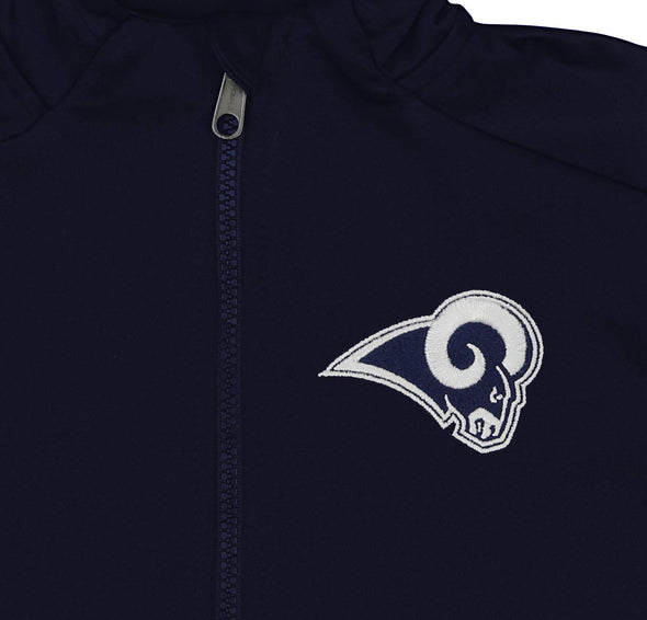 Outerstuff NFL Youth/Kids Los Angeles Rams Performance Full Zip Hoodie