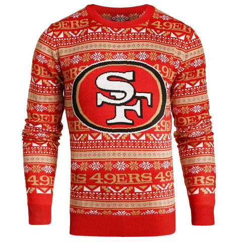 9c896b29682 Forever Collectibles NFL Men s San Francisco 49ers Aztec Print Ugly Sweater