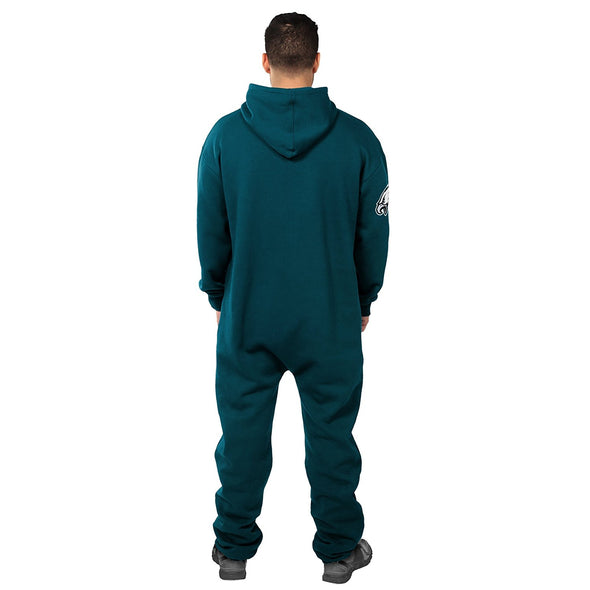 Forever Collectibles NFL Unisex Philadelphia Eagles Logo Jumpsuit, Green