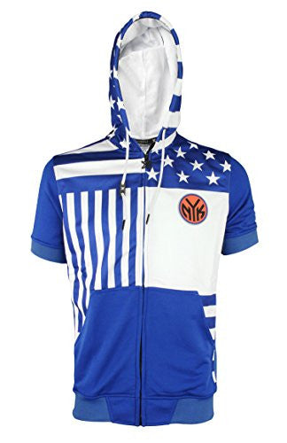 Zipway NBA Men's New York Knicks Flag Short Sleeve Zipup Hoodie
