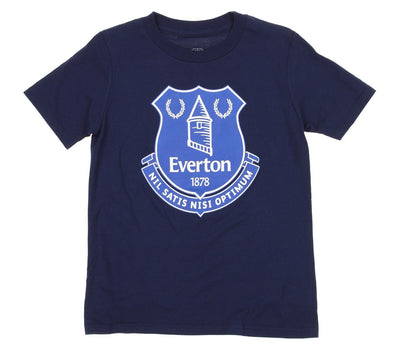 Gen 13 EPL Everton F.C. Soccer Youth Primary Logo Short Sleeve T-Shirt, Navy