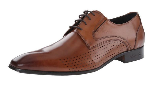 Kenneth Cole New York Men's Top Of The Line Oxfords Shoes - Black & Cognac
