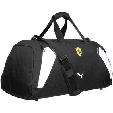 """Puma Ferrari Medium Teambag Duffle Bag, Black"""