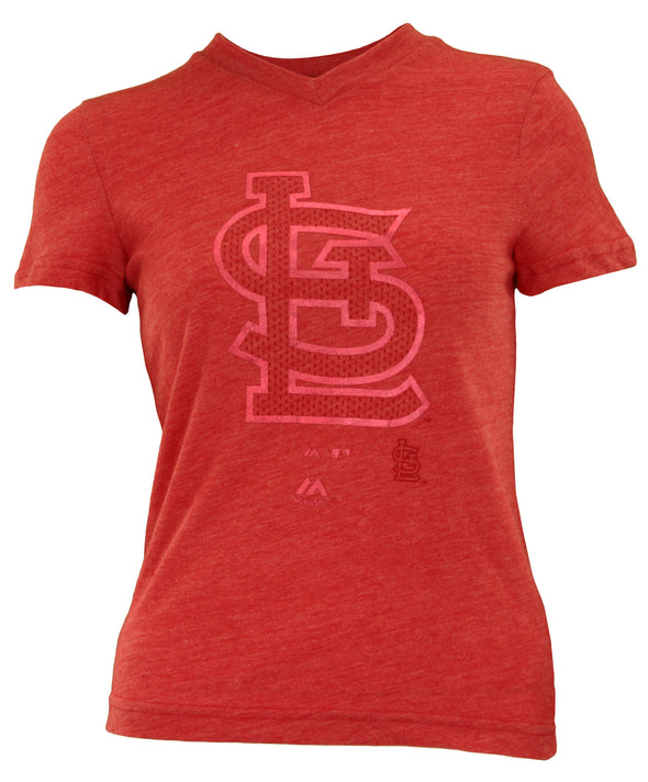 Outerstuff MLB Youth Girl's St. Louis Cardinals Tri-blend Slider Tee