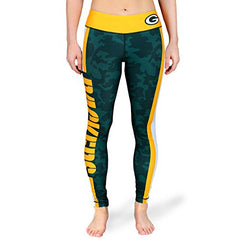 Forever Collectibles NFL Women's Green Bay Packers Team Stripe Leggings, Green