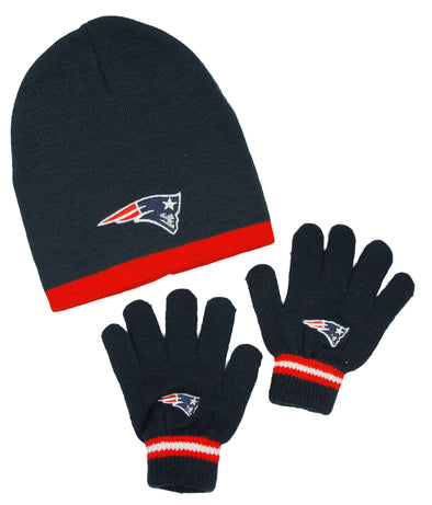 New England Patriots NFL Little Boys Knit Hat and Gloves Set