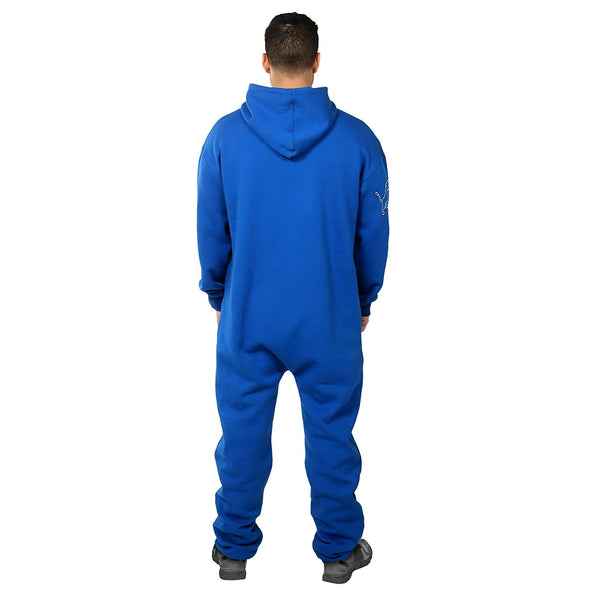 Forever Collectibles NFL Unisex Detroit Lions Logo Jumpsuit, Blue