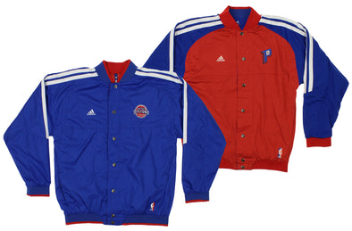 adidas Detroit Pistons NBA Boys Youth On Court Reversible Jacket, Blue-Red
