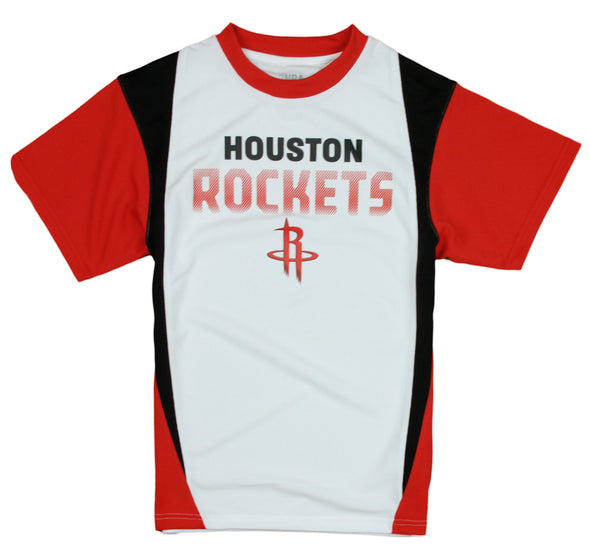 NBA Little Kids / Youth Boys Houston Rockets Play Dri Performance T-Shirt, White