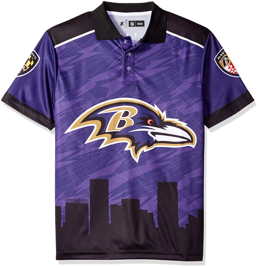 e2b1832e Forever Collectibles NFL Men's Baltimore Ravens Short Sleeve Thematic Polo  Shirt