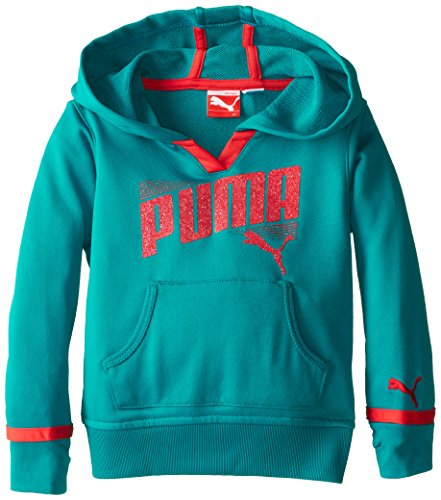 Puma Kids Core Active Pullover Hoodie Sweatshirt - Capri Breeze