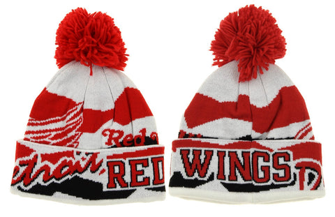 NHL Reebok Detroit Red Wings Youth Enforcer Winter Hat With Pom, Red