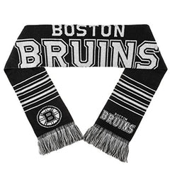 Forever Collectibles NHL Boston Bruins 2 Sided Knit Wordmark Logo Scarf