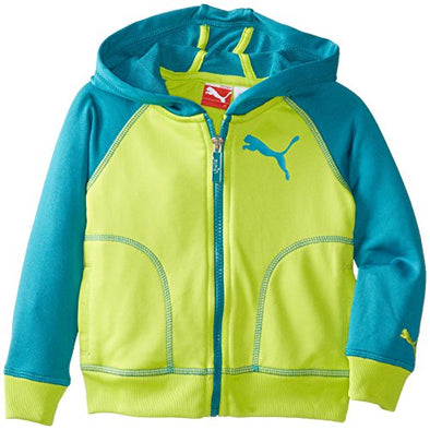 Puma Little Kids Active Raglan Hoodie Sweatshirt - Capri Breeze