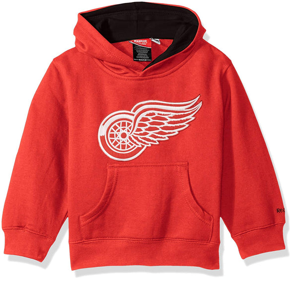 reebok NHL Kids Detroit Red Wings Prime Basic Pullover Hoodie, Red