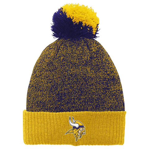 "NFL Youth Minnesota Vikings ""Basic"" Cuffed Knit Hat w/ Pom"
