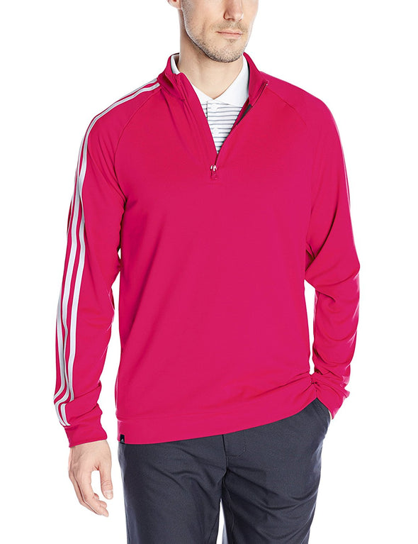 Adidas Golf Men's 3-Stripes 1/4 Zip Layering Top, 3 Color Options