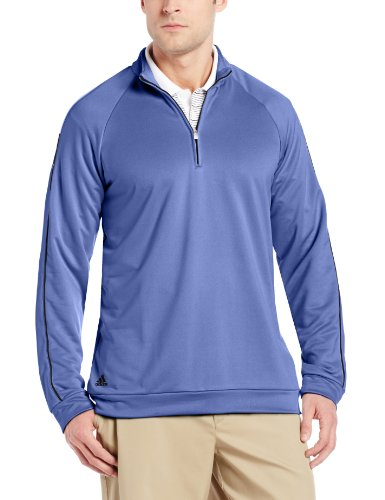 Adidas Golf Men's 3-Stripes Piped 1/4 Zip Up Sweater Shirt, 2 Colors