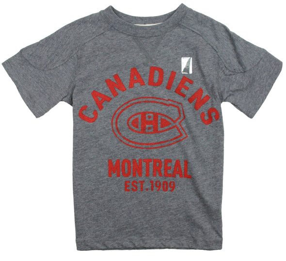 NHL Hockey Youth / Little Kids Montreal Canadiens Sleeve Graphic Tee T-Shirt, Grey