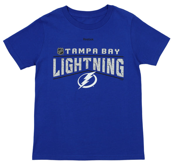 Reebok NHL Youth Tampa Bay Lightning Short Sleeve Freeze Reflect Tee, Blue