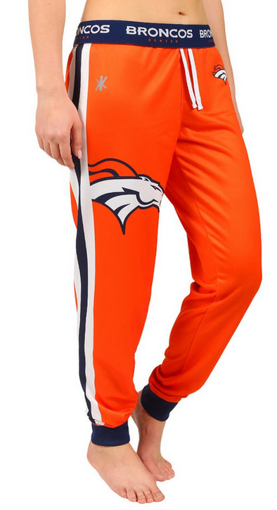KLEW NFL Women's Denver Broncos Cuffed Jogger Pants, Orange