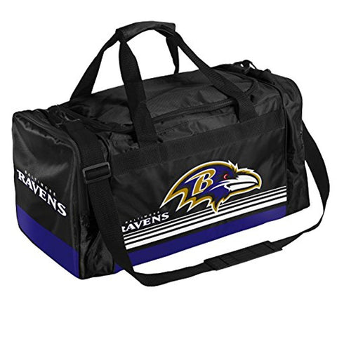 Baltimore Ravens Medium Striped Core Duffle Bag