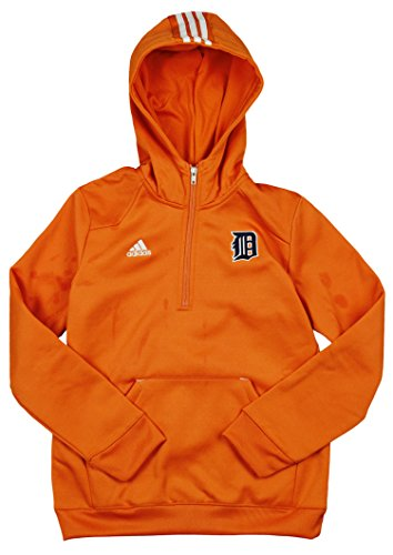 timeless design f3aa0 89e8e Adidas MLB Baseball Youth Detroit Tigers Sideline Player Pullover Hoodie