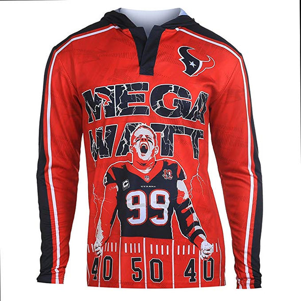 Klew Men's NFL Houston Texans 2015 J.J. Watt #99 Player Hoodie Tee