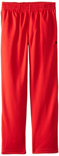 Puma Youth Boys Training Pants Athletic Pant - Gray and Red