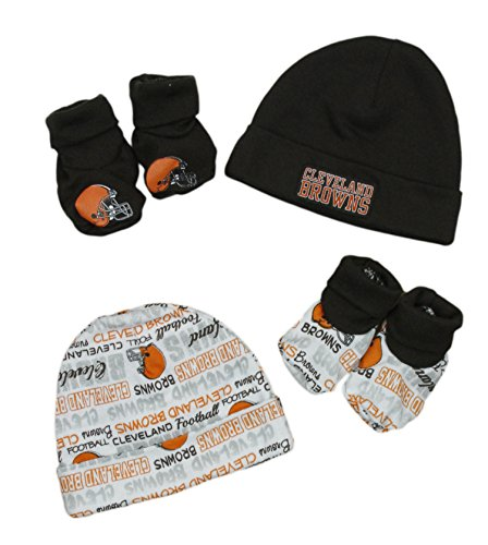 quality design 75b4d cc413 new zealand gerber nfl infant baby cleveland browns cap and booties set  brown fanletic 2a0ca 1e9fc