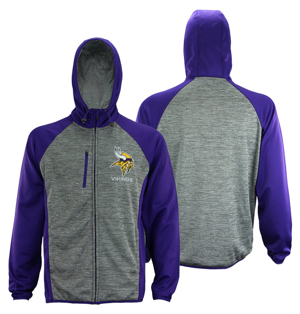 G-III Sports Men's NFL Minnesota Vikings Solid Fleece Full Zip Hooded Jacket