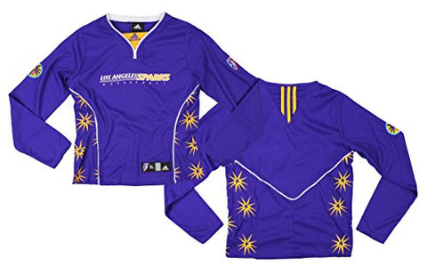 WNBA Basketball Girl's Youth Los Angeles Sparks Long Sleeve Shooting Shirt - Purple