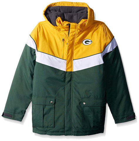 "Outerstuff NFL Youth Green Bay Packers ""All American"" Heavy Weight Parka Jacket"