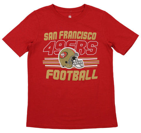 a8b58b5156f Outerstuff NFL Youth San Francisco 49ers Team Color Short Sleeve Tee