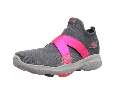 Skechers Women's Go Walk Revolution Ultra Sneaker, Charcoal/Hot Pink
