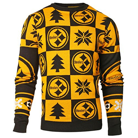 Forever Collectibles NFL Men's Pittsburgh Steelers 2016 Patches Ugly Sweater