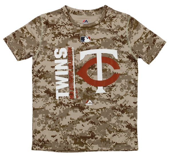 Majestic MLB Youth Minnesota Twins Short Sleeve AC Team Icon Tee