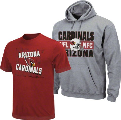 new arrival a54ad d0405 Arizona Cardinals NFL Football Youth Hoodie Swestshirt & Tee Combo