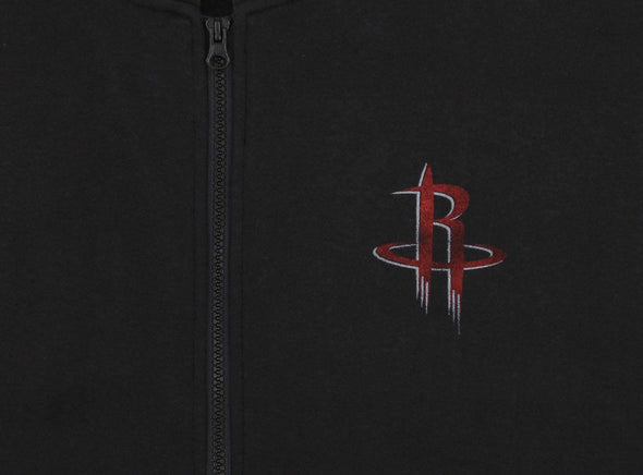 Reebok NBA Women's Houston Rockets Vintage Logo Full Zip Fleece Jacket, Black