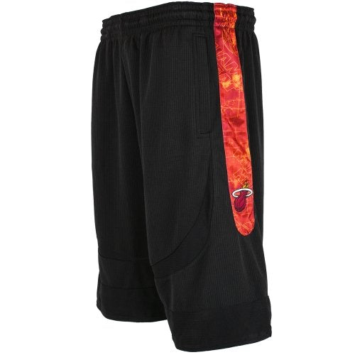 Zipway NBA Basketball Men's Miami Heat Big and Tall Blueprint Shorts, Black