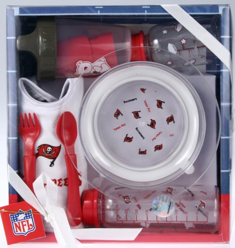 NFL Newborn Infant Tampa Bay Buccaneers Necessities Bottle Bib Utensil Gift Set