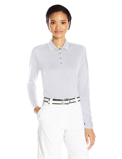 Adidas Golf Women's Tornament Performance Long Sleeve Polo Shirt