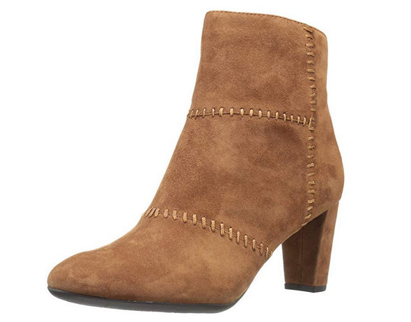 Aerosoles Women's First Ave Ankle Boot, Dark Tan Suede