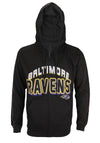 Baltimore Ravens NFL Football Men's In The Pocket Full Zip Fleece Hoodie, Black