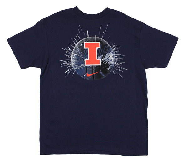Nike NCAA Youth Illinois Fighting Illini The Big Ball Short Sleeve T-Shirt, Navy
